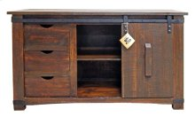 "60"" Barn Door Buffet/tv"