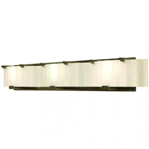 Triple Plank Vanity - Corrugated Glass - V445 White Bronze Light