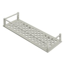 "Bathroom Basket HD Rectangular 12-1/4"" - Brushed Nickel"