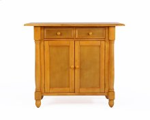 Sunset Trading Light Oak Kitchen Island with Drop Leaf Top