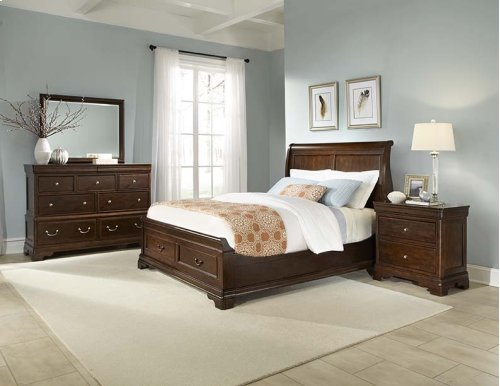 Provence Storage Sleigh Bed Queen