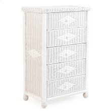 Wicker 5 Drawer Chest Cotton 3705