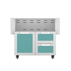 "Hestan36"" Hestan Outdoor Tower Cart with Door/Drawer Combo - GCR Series - Bora-bora"
