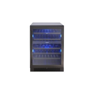 "Zephyr24"" Black Stainless Dual Zone Wine Cooler"