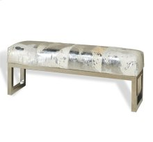 Aldo Metallic Hide Bench