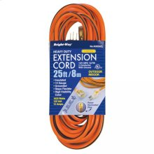 14/3 25 ft. Lighted End Extension Cord