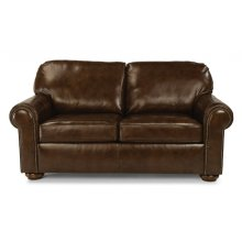 Preston Leather Full Sleeper with Nailhead Trim