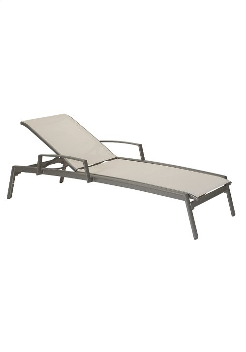 Elance Relaxed Sling Chaise Lounge with Arms