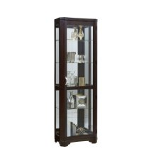 Sable Concave Front Mirrored Curio