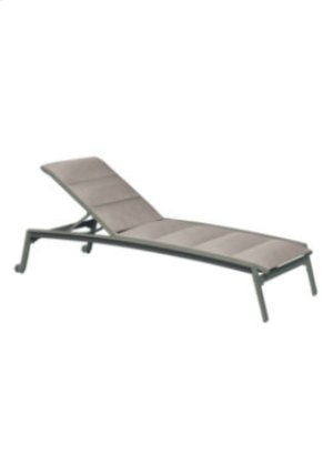 Elance Padded Sling Chaise Lounge with Wheels