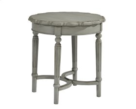 Dove Grey Pie Crust Side Table - Short