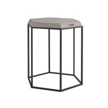 Metal Hexagon Table with Cement Top