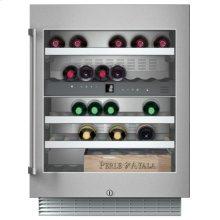 Wine climate cabinet RW 404 261 under-counter, stainless steel-framed glass door Niche width 60 cm, Niche height 82 cm