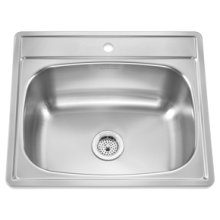 Large Single Topmount 1 Faucet Hole(Stainless Steel)