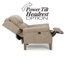 HIGH LEG RECLINER WITH POWER ADJUSTABLE HEADREST