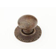 "Solid Brass, Symphony, Sunburst, Round Knob w/Backplate, 1-1/4"" diameter, Highlighted Bronze finish"