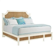 Coastal Living Resort Water Meadow Woven Bed Queen In Nautical White In Nautical White