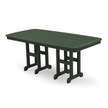 "Green Nautical 37"" x 72"" Dining Table"