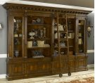 Napoleon Brown Finished Bookcase with Ladder, Crotch Mahogany Veneer, Brass Accents Product Image