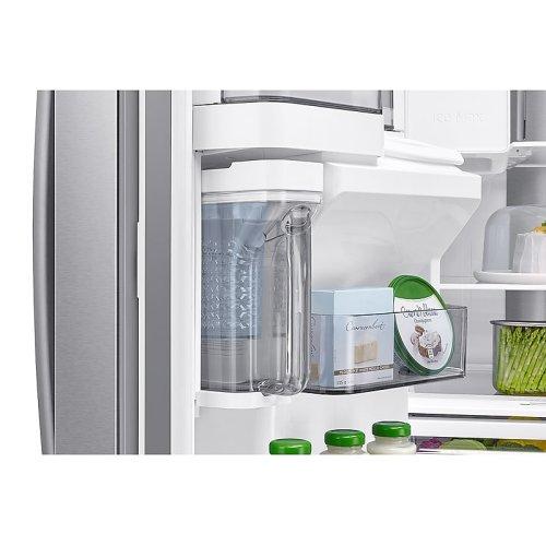 22 cu. ft. 4-Door French Door, Counter Depth Refrigerator with Food Showcase in Stainless Steel
