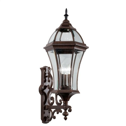 Townhouse 3 Light Wall Light Tannery Bronze