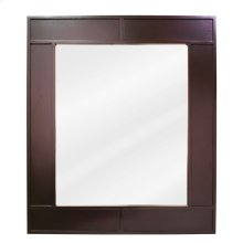 "26"" x 30"" Espresso mirror with beveled glass"