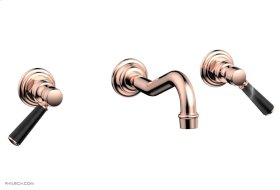 HENRI Wall Tub Set - Marble Lever Handles 161-58 - Polished Copper