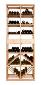 Apex 7' Bottle & Case Diamond Bin Combo Modular Wine Rack Product Image