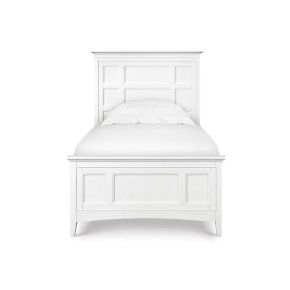 Complete Twin Panel Bed w/2 Storage Rails