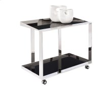 Maddox Bar Cart - Stainless Steel