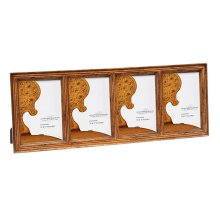 "Satinwood Ribbed Picture Frame (5""X7"")"