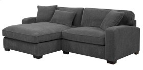 Rsf Chair-lsf Chaise W/3 Pillows Charcoal