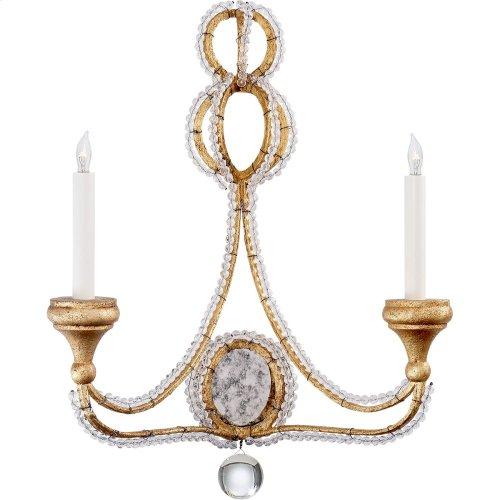 Visual Comfort NW2030VG Niermann Weeks Milan 2 Light 18 inch Venetian Gold Sconce Wall Light, Niermann Weeks, Clear Crystal