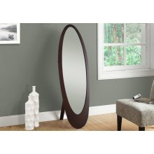 "MIRROR - 59""H / CAPPUCCINO CONTEMPORARY OVAL FRAME"