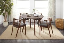 Copenhagen Round Dining Table With 4 Denmark Chairs