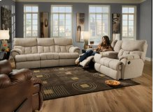 Re-Fueler Double Reclining Console Sofa with Power Plus