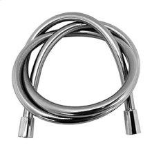 "PVC shower hose 1/2"" x 1/2"" x 1500 mm. Silver finish."