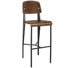 Cabin Bar Stool in Walnut Black