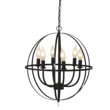 Black Orb Chandelier. 25W Max.