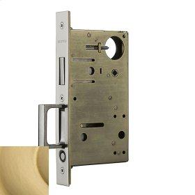 Satin Brass 8602 Pocket Door Lock with Pull
