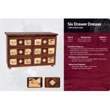 Adirondack Six Drawer Dresser