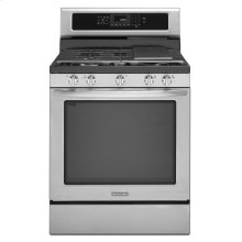 30-Inch 5-Burner Gas with Griddle Freestanding Range, Architect® Series II - Stainless Steel-CLOSEOUT