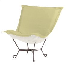 Scroll Puff Chair Sterling Willow Titanium Frame