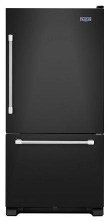 "30"" Wide Bottom Mount Refrigerator with LED Lighting - 19 cu. ft."