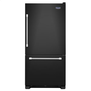 "Maytag30"" Wide Bottom Mount Refrigerator with LED Lighting - 19 cu. ft."