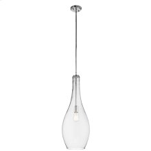 Everly Collection Everly 1 Light Pendant CH