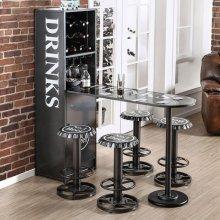 Galvan Wine Cabinet W/ Foldable Table