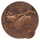 "Elk 14"" Indoor Outdoor Wall Clock & Thermometer - Antique Copper Product Image"