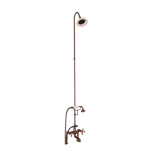 Tub/Shower Converto Unit - Elephant Spout, Riser, Showerhead - Cross / Oil Rubbed Bronze