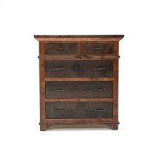 Glen Falls - 5 Drawer Gentlemen's Chest With Split Top Drawer